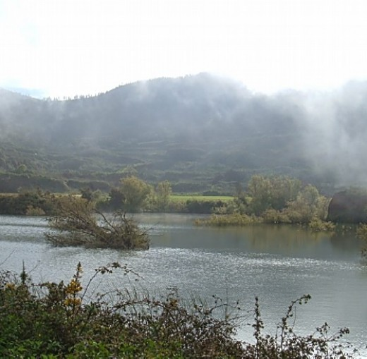 View over a pond in Erjos