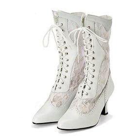 Victorian style lace up ankle boot