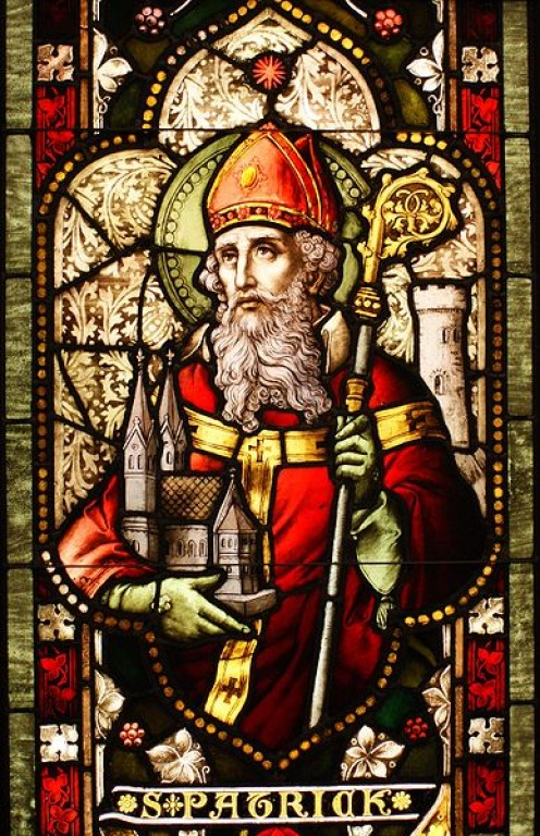 """Saint Patrick stained glass window from Cathedral of Christ the Light, Oakland, CA."" Taken on February 3, 2009 Author: 'Sicarr' This file is licensed under the Creative Commons Attribution 2.0 Generic license by Sicarr who has not endorsed my item"