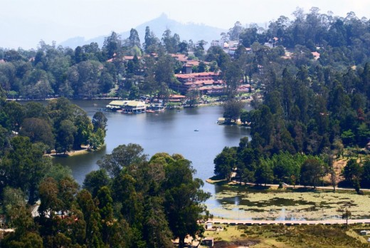 A bird's eye view of the Birijam Lake