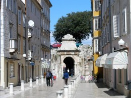 Street leading to the Marina in Zadar.