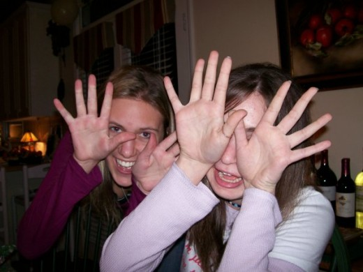 My friends doing Pale Man impersonations after seeing Pan's Labyrinth