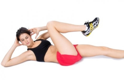 Abdominal exercise done on floor. Involves you to touch knees with your elbows while lying on back.