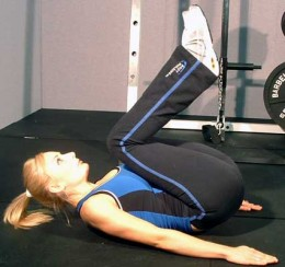 elevation of pelvis - variant - pelvic floor exercise