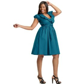 Wrap dresses for plus size women