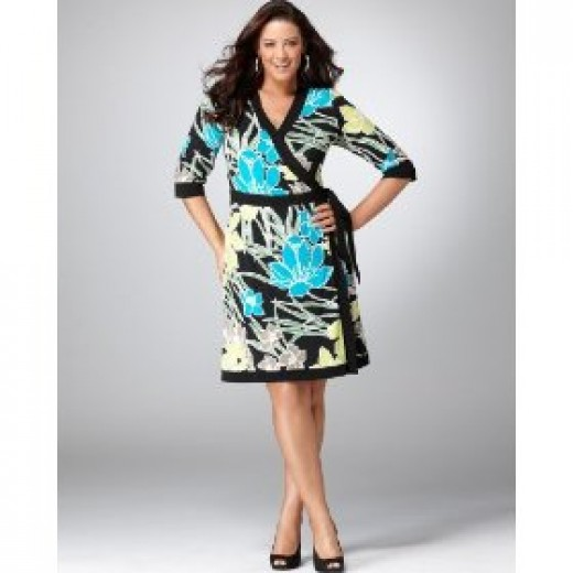 Summer wrap dress for plus size women