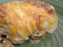 Cheese, bacon and honey mustard sauce make this entree scrumptious!