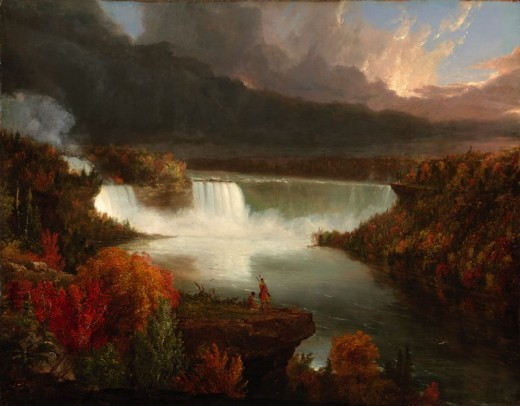 """NIAGARA FALLS"" BY THOMAS COLE (1845) ART INSTITUTE OF CHICAGO"