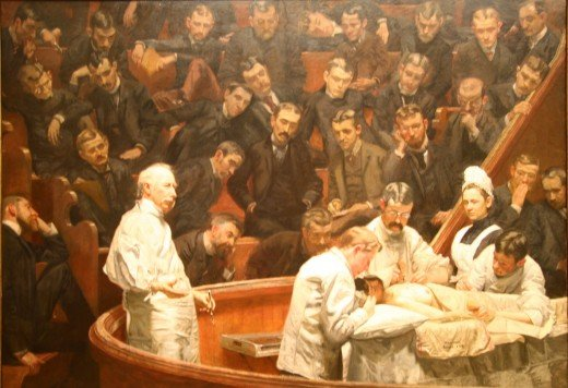 """THE AGNEW CLINIC"" BY THOMAS EAKINS (1889) PHILADELPHIA MUSEUM OF ART"