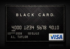 The most Prestigious VISA Card - The Black Card