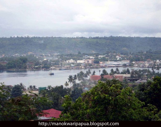 Manokwari the capital town of Papua Barat Province in the Republic of Indonesia