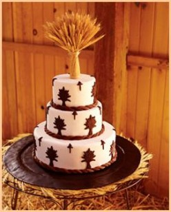 Wedding decorated with wheat