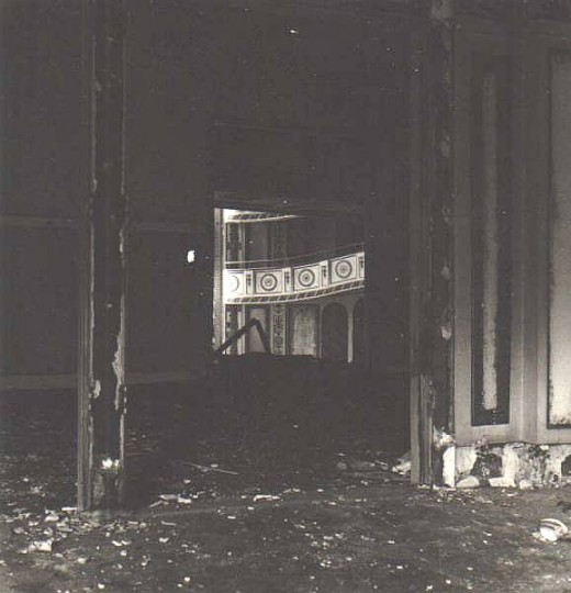 In 1976 the Shubert Theatre here in Cincinnati was torn down to build what is now a parking garage. This beautiful building was home to many big name plays through the years, starting in 1921. I documented the demolition which took about 3 months (mo