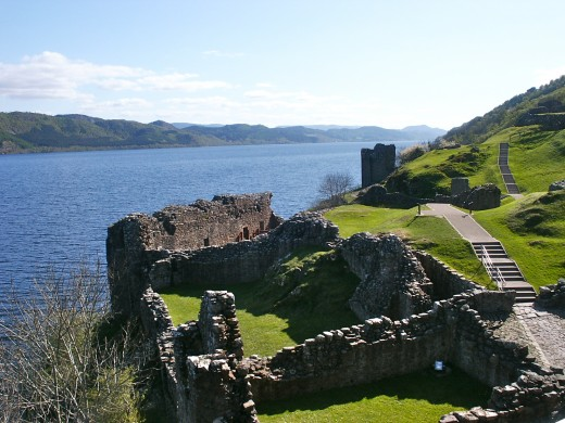 Urqhart Castle, like most of the historic castles of Scotland, is not privately owned and is opened to the public. (Image copyright Jane Grey.)