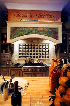 A Tuscan kitchen is a popular design.