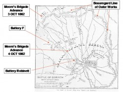 42nd Alabama Battle of Corinth Locations Data Source: The War of the Rebellion:  A Compilation of the Official Records of the Union and Confederate Armies.  (Washington, D.C.:  U.S. Government Printing Office, 1880-1901), The War of the Rebellion:  S