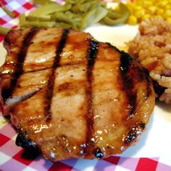 Grilled Brown Sugar Pork Chops (Allrecipes.com)