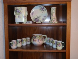 My mother's hand painted china brings back many happy memories of my childhood