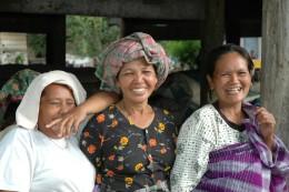 Three Indonesian women