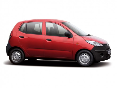 Red colored Hyundai I10 Picture, Photo. Check out the trendy red color on