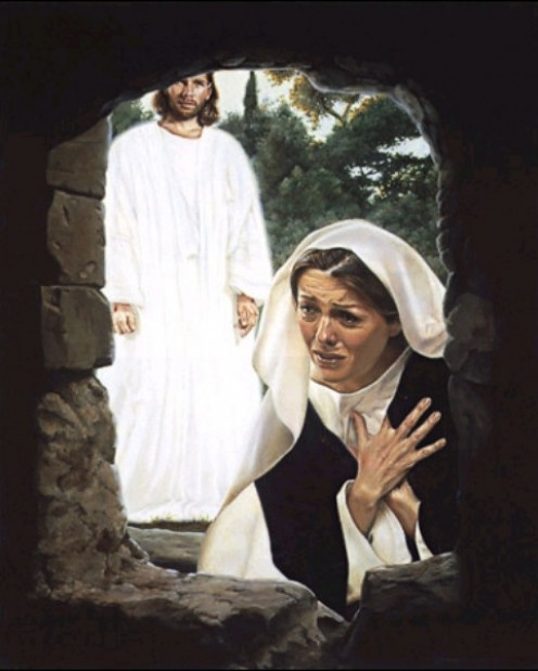 "Jesus said to her, ""Mary."" She turned toward him and cried out in Aramaic, ""Rabboni!"" John 20:16."