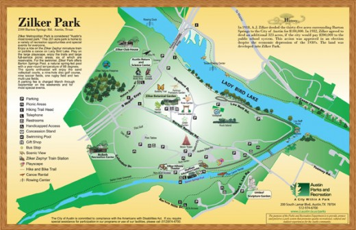 Lady Bird Lake Map