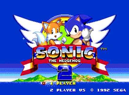 Sonic the Hedgehog 2 Title Screen