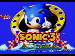 Sonic the Hedgehog 3 Title Screen
