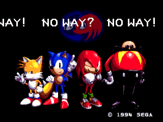 Error screen for trying to lock a different game to Sonic & Knuckles