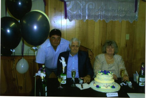 My husband Fernando with my mom and dad. My father passed away from cancer 3 months later. The last person he remembered was my husband.