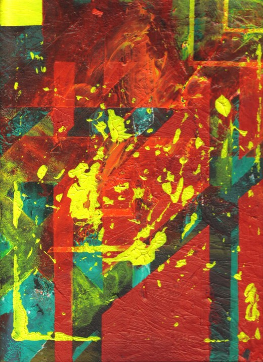 Abstract acrlic on canvas.