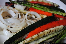 Beautiful lemon grilled vegetables.