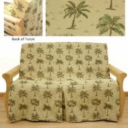 Skirted futon slipcovers