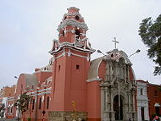 Church in the suburb of Barranco