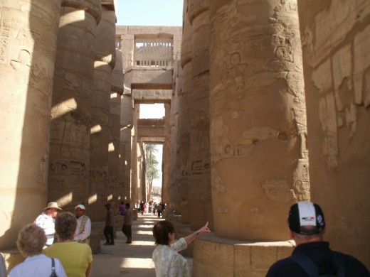 Luxor Temple: The Great Hypostyle hall.