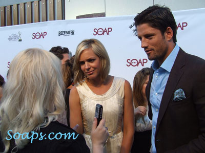 DOOL actors and Christine Fix interviewing. Daytime Emmys taken by Shannon Burrell.