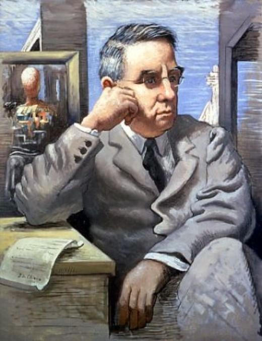 Giorgio de Chirico portrait of Dr. Albert C. Barnes, 1923, Barnes Foundation