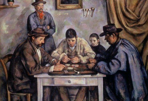 Paul Cezanne, The Card Players, Barnes Collection