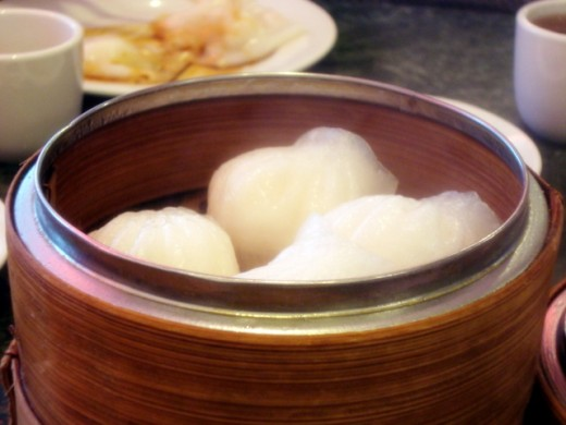 Shrimp Dumpling (Ha Gao)-the most common Dim Sum