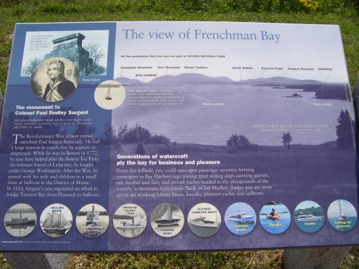 Frenchman Bay Sign.