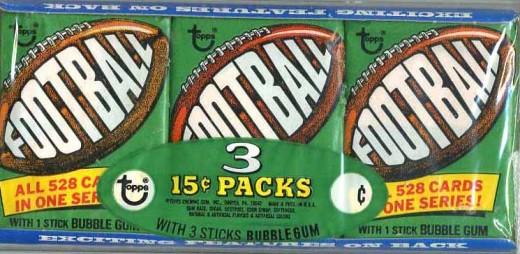 1974 Football Wax Pack Tray