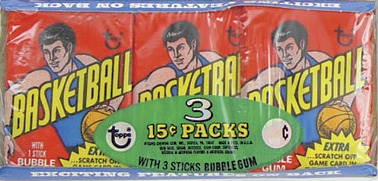 1974/75 Basketball Wax Pack Tray