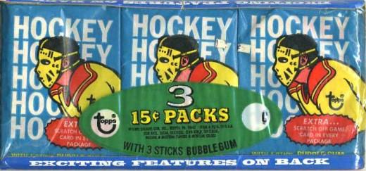 1974/75 Hockey Wax Pack Tray