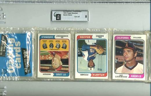 1974 Baseball Rack Pack