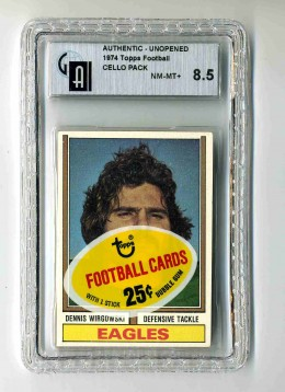 1974 Topps FB Cello Pack