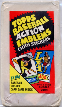 1974 Topps Test Issue Action Emblems