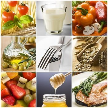 Various B complex vitamin foods