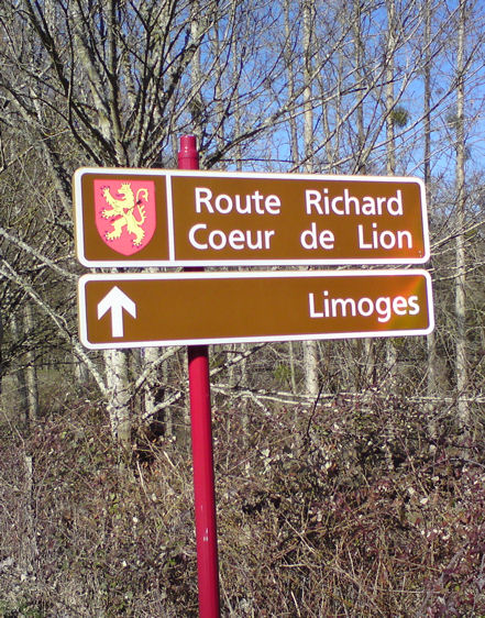 The Route de Richard is clearly marked.