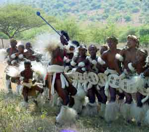 Zulu Youth Dancers in South Africa
