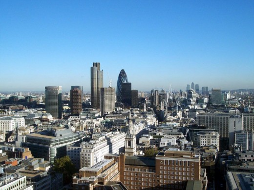 View of The City of London from atop of St. Paul Catherdral